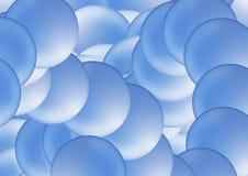 Blauwe bellen vector illustratie