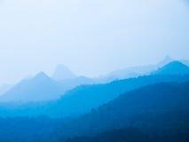 Blauwe berg Stock Afbeelding