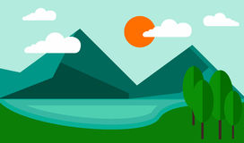 Blauwe Berg als achtergrond Stock Afbeeldingen