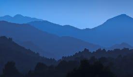 Blauwe bergen Royalty-vrije Stock Foto