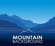 Blauwe bergen bij dageraad stock illustratie
