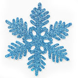 Blauwe berijpte sneeuwvlok royalty-vrije illustratie