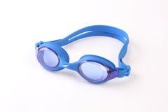 Blauwe beschermende brillen royalty-vrije stock afbeelding