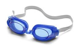 Blauwe beschermende brillen royalty-vrije stock foto's