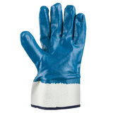 Blauwe beschermingshandschoen Royalty-vrije Stock Foto's