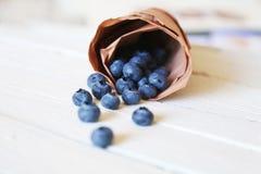 Blauwe bessenfoto Royalty-vrije Stock Afbeeldingen