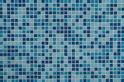 Blauwe betegelde achtergrond Stock Afbeelding