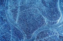 Blauwe bevroren ijsachtergrond   royalty-vrije stock afbeeldingen