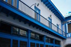 Blauwe binnenplaats, Havana cuba Stock Afbeelding