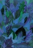 Blauwe bladeren Stock Fotografie