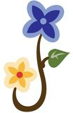 Blauwe bloem stock illustratie