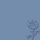 Blauwe bloem op blauwe achtergrond Royalty-vrije Stock Afbeeldingen