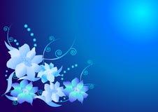 Blauwe bloemachtergrond Royalty-vrije Stock Afbeelding