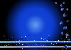 Blauwe bloemachtergrond Stock Afbeeldingen
