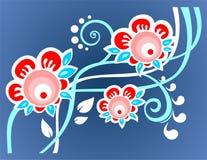 Blauwe bloemachtergrond vector illustratie
