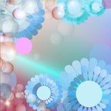 Blauwe bloemachtergrond Stock Afbeelding