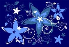 Blauwe bloemen stock illustratie