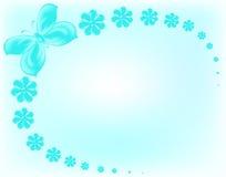 Blauwe bloemen en vlinder Royalty-vrije Stock Foto