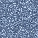 Blauwe bloemen met stroken Stock Fotografie
