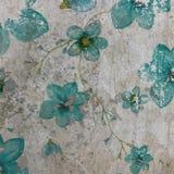 Blauwe bloemen op landhuisachtergrond Royalty-vrije Stock Fotografie