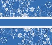 Blauwe bloemenachtergrond Stock Afbeeldingen