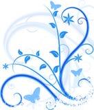 Blauwe bloemenachtergrond. Royalty-vrije Stock Fotografie