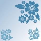 Blauwe bloemenachtergrond Royalty-vrije Stock Foto's