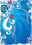 Blauwe bloemenachtergrond Stock Illustratie