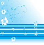 Blauwe bloemenachtergrond Stock Foto