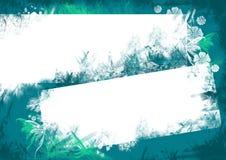 Blauwe bloemenachtergrond voor brief Stock Afbeeldingen