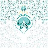 Blauwe bloemenachtergrond voor uw ontwerp Royalty-vrije Stock Afbeeldingen