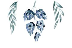 Blauwe bloemenillustralion stock illustratie