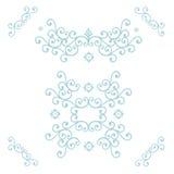 Blauwe bloemenpatronen Stock Afbeeldingen