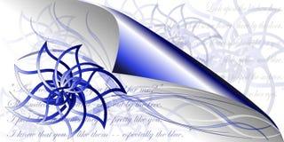 Blauwe bloemenpoëzie Royalty-vrije Stock Afbeelding