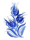 Blauwe bloemsamenstelling Stock Foto