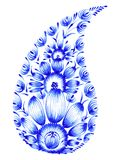 Blauwe bloemsamenstelling Royalty-vrije Stock Afbeelding