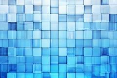 Blauwe blokken abstracte achtergrond Royalty-vrije Stock Afbeeldingen