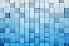 Blauwe blokken abstracte achtergrond Stock Afbeeldingen