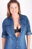 Blauwe blouse Royalty-vrije Stock Afbeeldingen