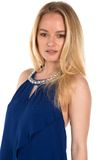 Blauwe blouse Royalty-vrije Stock Fotografie