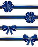 Blauwe bogen Royalty-vrije Stock Afbeeldingen