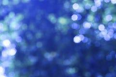 Blauwe bokeh Royalty-vrije Stock Afbeelding