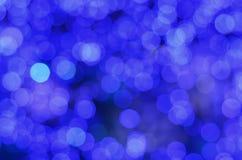 Blauwe bokeh Stock Afbeelding