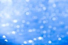 Blauwe bokeh abstracte achtergrond stock foto's