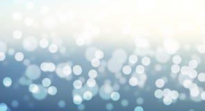 Blauwe bokeh abstracte achtergrond stock illustratie