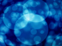 Blauwe bokeh abstracte lichte achtergrond Stock Foto's