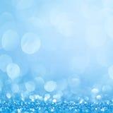 Blauwe bokeh abstracte lichte achtergronden Royalty-vrije Stock Foto's