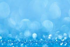 Blauwe bokeh abstracte lichte achtergronden Royalty-vrije Stock Fotografie