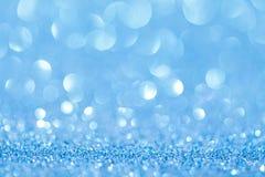 Blauwe bokeh abstracte lichte achtergronden Royalty-vrije Stock Foto