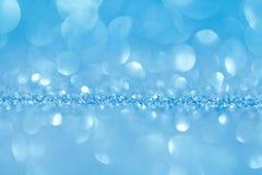 Blauwe bokeh abstracte lichte achtergronden Stock Foto